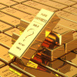 Big Set of Gold bars — Stock Photo