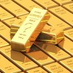 Big Set of Gold bars — Stock Photo