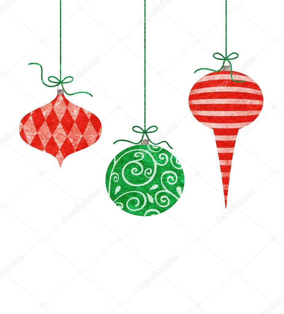 adornos navideos colgantes caprichoso u imagen de stock