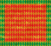 Christmas Red and Gold Harlequin Background — Stock Photo