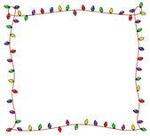 Festive Christmas Lights Frame — Stock Photo