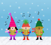 Muliticultural Children Carolers — Stock Photo