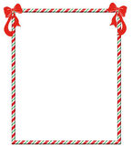 Christmas Candycane Frame — Stock Photo