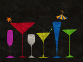 Stylized Drinks in a Row — Foto Stock