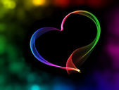 Colorful heart with bokeh lights — Stock Photo
