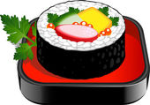 Sushi roll — Stockvector