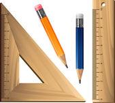 Geometrické sada přes bílý — Stockvektor