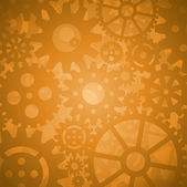 Gold Gears Background — Stock Vector