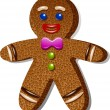 Gingerbread man — Vector de stock