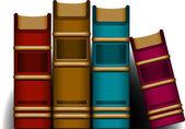 4 冊の本 — ストックベクタ