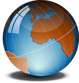 Globe over white — Stock Vector