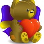 Bear with heart — Stock Vector #1852416