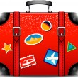 Travel suitcase — Stockvectorbeeld
