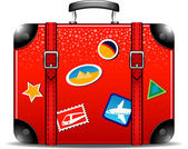 Travel suitcase — Stock Vector