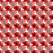 Seamless pattern with watercolor poppies — Stock Photo