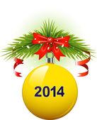 Christmas ball 2014 — Stock Vector