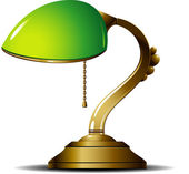 Green Lamp — Vettoriale Stock