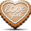 Cookie for Valentine's Day — Stockvector