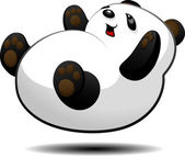 Little panda — Stock Vector