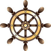 Ship steering wheel — Stockvector