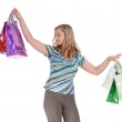 Girl with shopping bag — Stock Photo #1857894