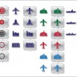 Royalty-Free Stock Vector Image: Military map icons