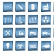 Various industrial icons in vector format — Stock Vector