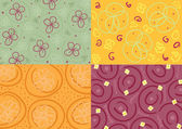 Set of vectorized floral backgrounds — Stock Vector