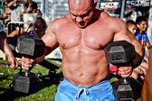 Bodybuilder training — Stock Photo
