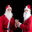 Two santa claus — Stock Photo