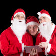 Royalty-Free Stock Photo: Three santa claus