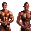 Bodybuilders posing — Stock Photo