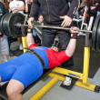 Stock Photo: Amateur bench press championship