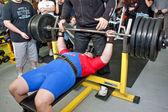 Amateur bench press championship — Stock Photo