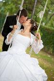Young wedding couple — Stock Photo