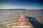 Pier in lake — Stock Photo
