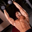 Bodybuilder training - Foto Stock