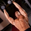 Bodybuilder training - Stockfoto