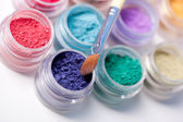 Colorful mineral eyeshadows — Stock Photo