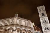 Vista notturna del duomo di Firenze — Foto Stock