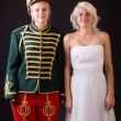 Beautiful bride and hussar — Stock Photo #25052471