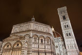 Night view of the Florence Duomo — Stock Photo