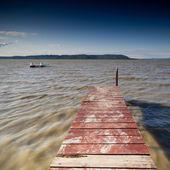 Pier in lake — Stock Photo