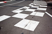 Car race asphalt — Stock Photo