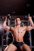 Bodybuilder training — Stock Photo