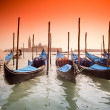 Venice, Italy with gondolas — Stock Photo