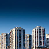 Old panel apartments — Stock Photo