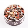 Large bowl of dog food — Stock Photo