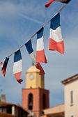 French flags in Saint Tropez — Stock Photo