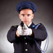 Elegant soldier shoot — Stock Photo